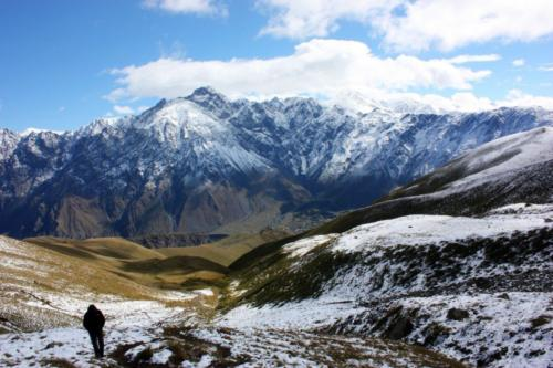 Gruzie - výstup na Kazbek